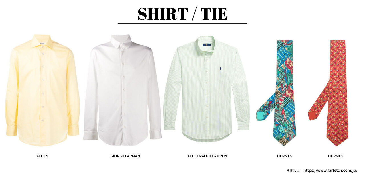 パーソナルカラー メンズ スプリング  シャツ ネクタイ